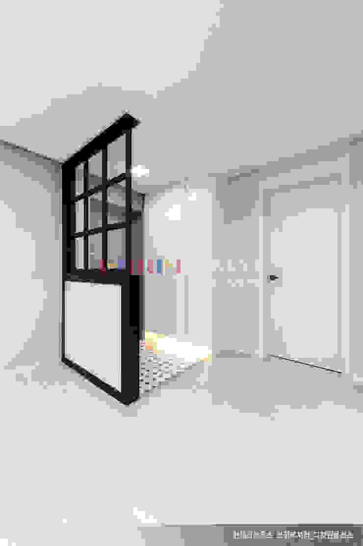 의정부 호원동 신원아파트 인테리어 모던스타일 복도, 현관 & 계단 by 디자인플러스 모던