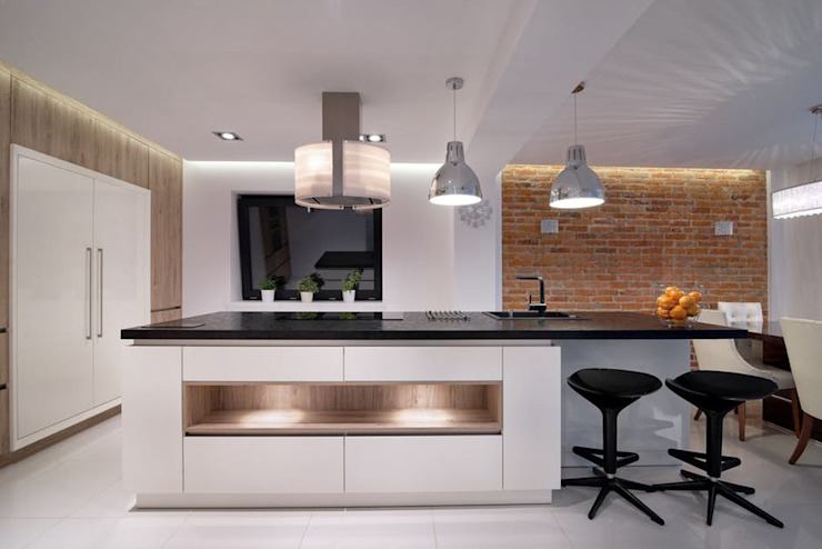 Open Space Kitchen Ideas by Urban Living Designs Modern