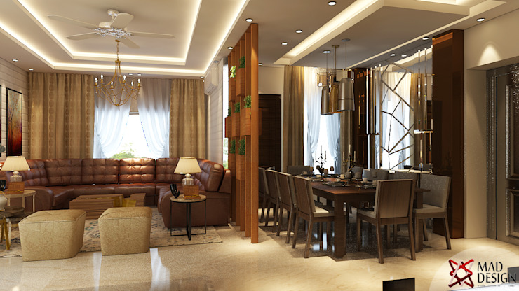 LIVING AND DINING VIEW 2 by homify Modern