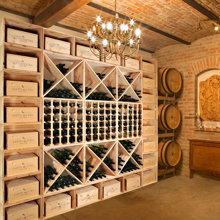 Wine cellar by Weinregal-Profi, Classic Wood Wood effect