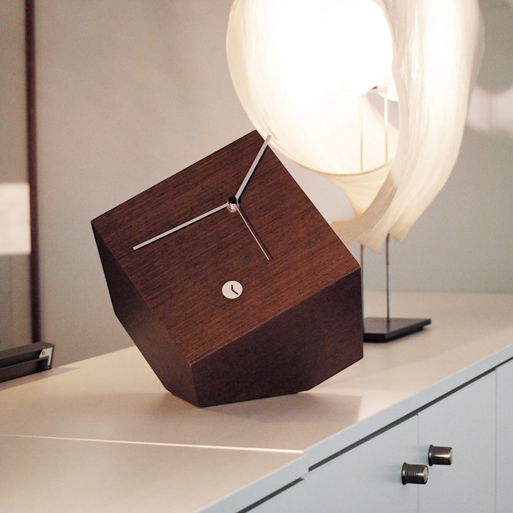 Tothora Box 15 - Wenge Wall Clock: modern  by Just For Clocks,Modern Wood Wood effect