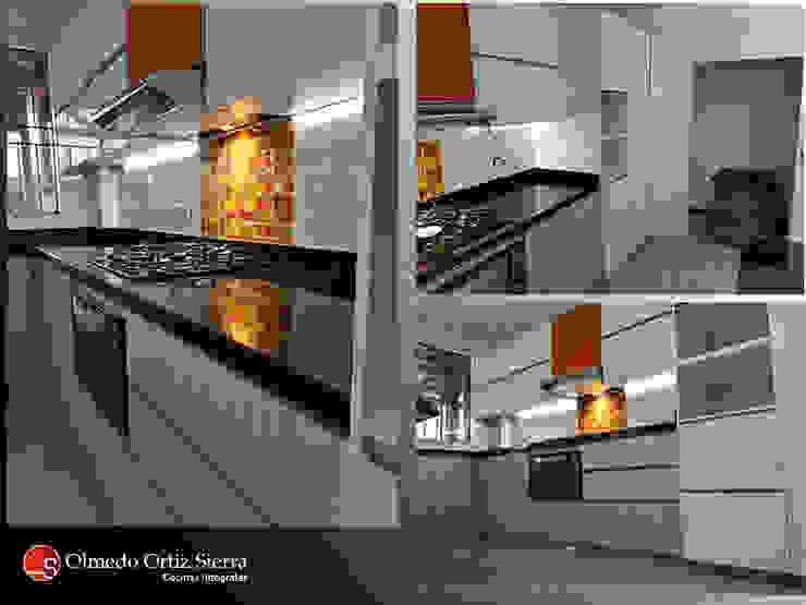 Diferentes vistas de Cocina Integral:  de estilo  por Cocinas Integrales Olmedo Ortiz Sierra, Moderno Aglomerado