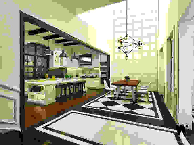 Ping House - Dining Area Ruang Makan Klasik Oleh w.interiorstudio Klasik