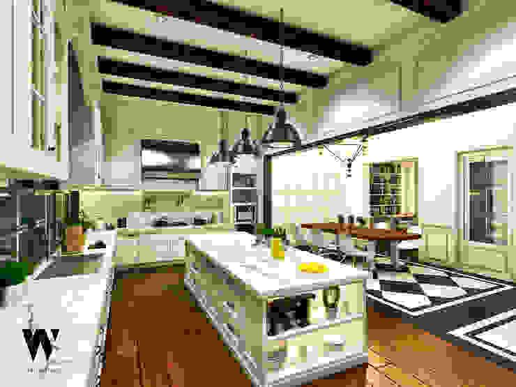Ping House Dapur Klasik Oleh w.interiorstudio Klasik