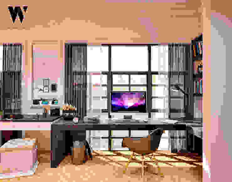 Ping House - Working Area Ruang Studi/Kantor Klasik Oleh w.interiorstudio Klasik