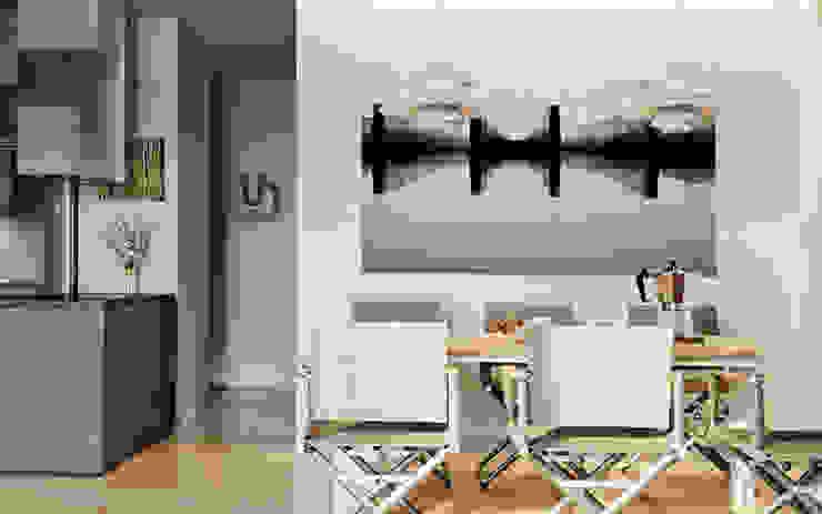 Căn hộ phong các tối giản đương đại (Minimalist Contemporary): tối giản  by Tuan Han Design Studio, Tối giản