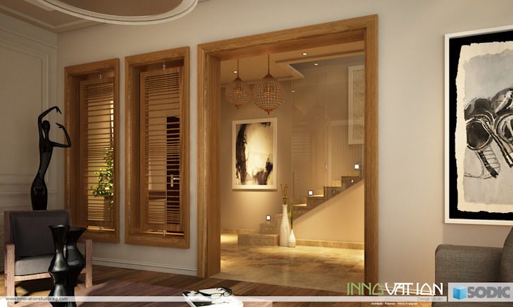 Reception Eclectic style walls & floors by INNOVATION DESIGN STUDIO Eclectic Wood Wood effect