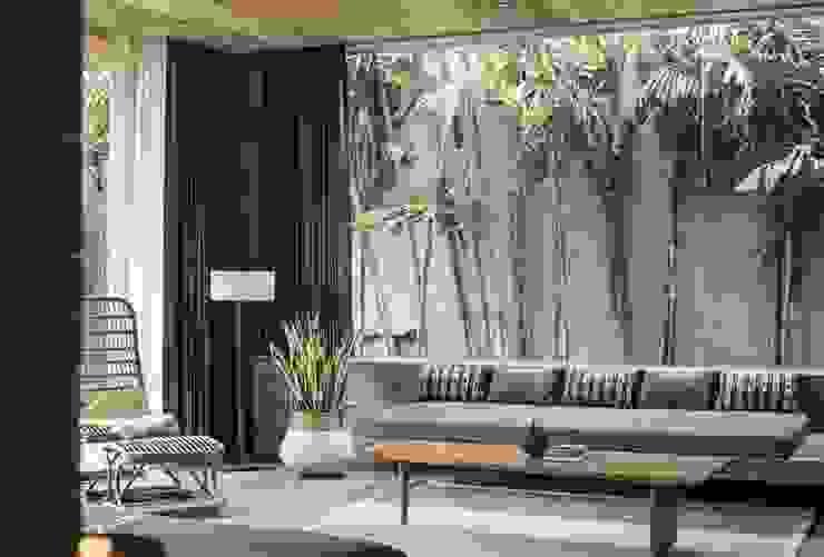 Salas / recibidores de estilo  por Meliki, Asiático Bambú Verde