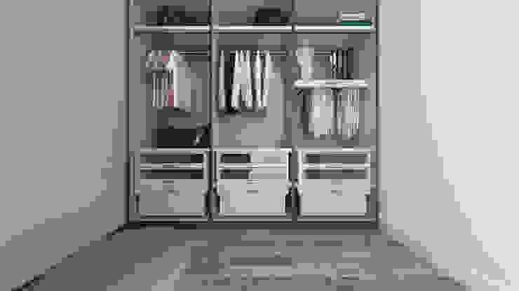 Phòng thay đồ phong cách Địa Trung Hải bởi De Vivo Home Design Địa Trung Hải