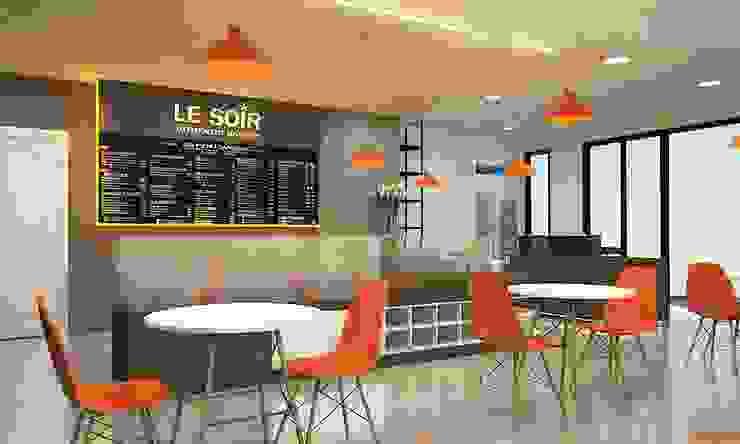 Oficinas y comercios de estilo moderno de CÔNG TY TNHH THIẾT KẾ VÀ XÂY DỰNG GREEN SPACE Moderno