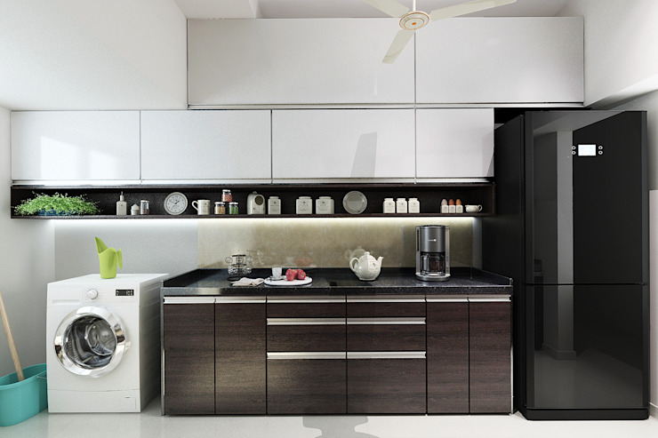 Modular kitchen by The inside stories - by Minal Modern Glass