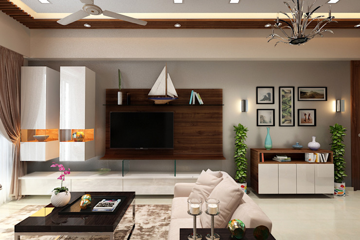 Living room Modern living room by The inside stories - by Minal Modern Plywood