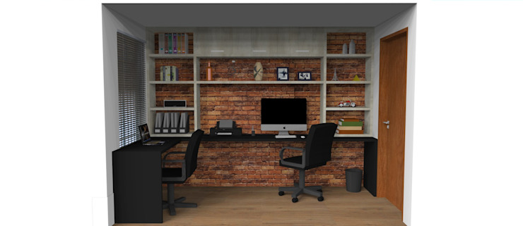 Study/office by 3D Arquitetura, Rustic MDF