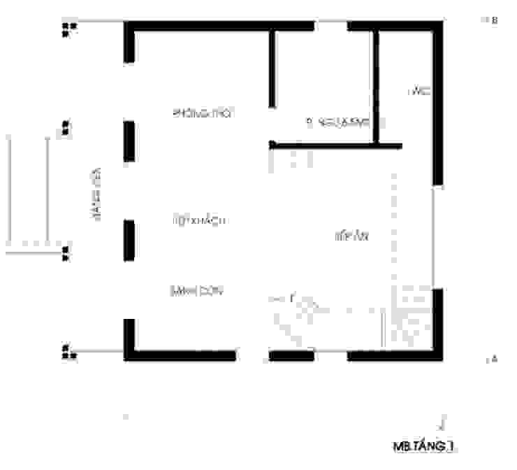 Biệt thự 200m2 cho gia đình 3 thế hệ: Quốc gia  by Kiến trúc ASPACE , Đồng quê