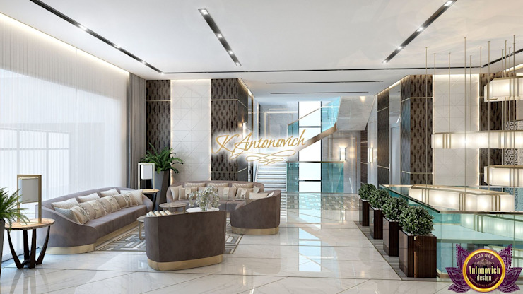 Perfect interior designs from Katrina Antonovich Modern living room by Luxury Antonovich Design Modern