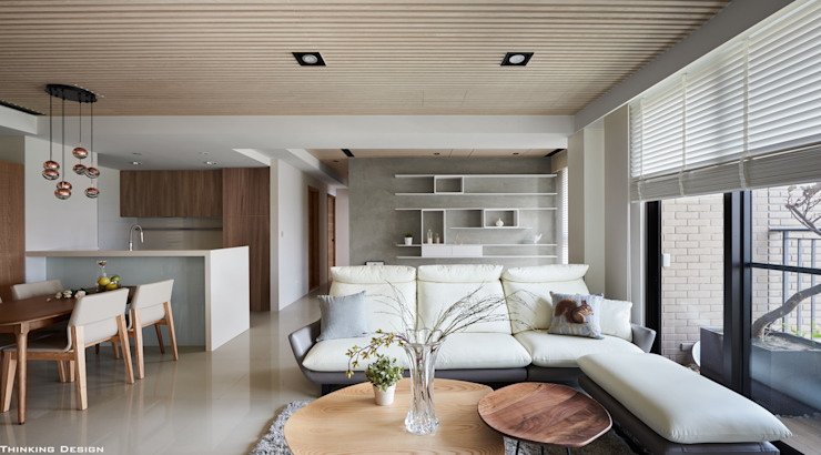 Modern living room by 思維空間設計 Modern