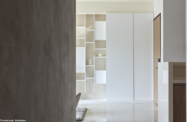 原森 現代風玄關、走廊與階梯 根據 思維空間設計 現代風