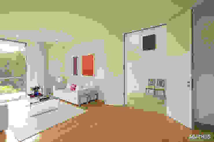 Neubau einer Villa in Ostbelgien Moderne Wohnzimmer von Architekturbüro Sutmann Modern