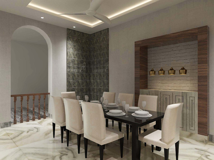 Contemporary design Minimalist dining room by Bhavana Jain Designs Minimalist