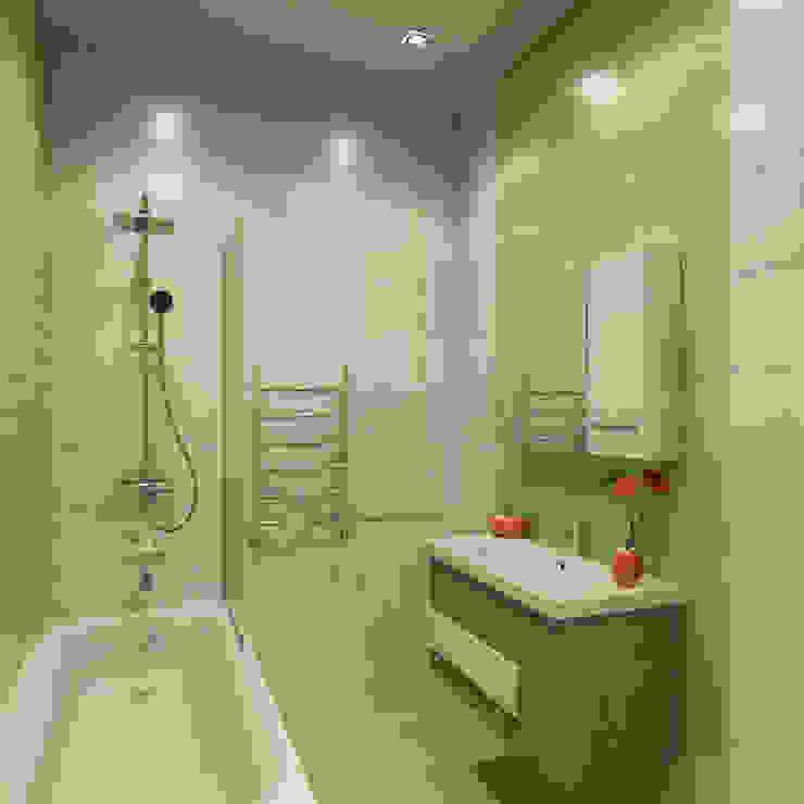 Mediterranean style bathrooms by Гузалия Шамсутдинова | KUB STUDIO Mediterranean