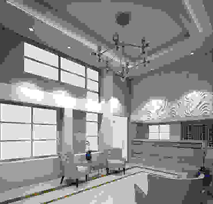 Dieño interior Lobby apartamentos Modern Living Room by Savignano Design Modern