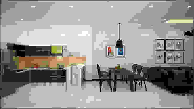 Phòng khách Phòng ăn phong cách châu Á bởi DCOR Châu Á