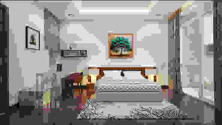 phòng ngủ Phòng ngủ phong cách châu Á bởi DCOR Châu Á