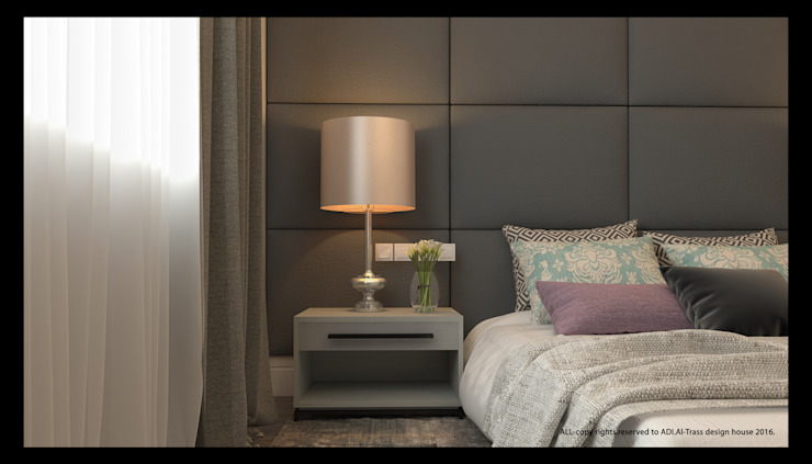 master bedroom: modern  by AL-TRASS CREATIONS DESIGN, Modern