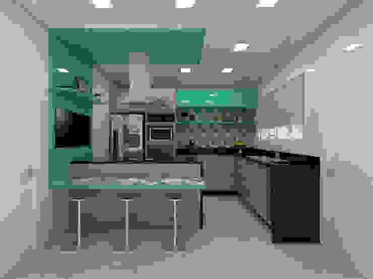 by Juliana Lobo Arquitetura & Interiores Modern Wood-Plastic Composite