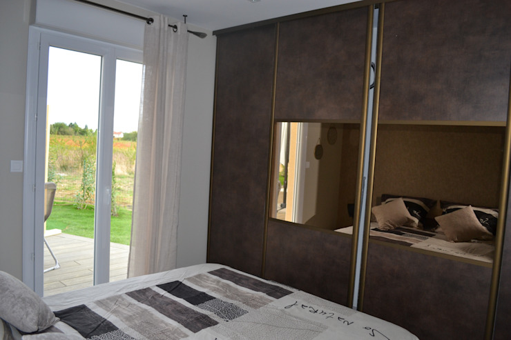 chambre à coucher Chambre moderne par KREA Koncept Moderne