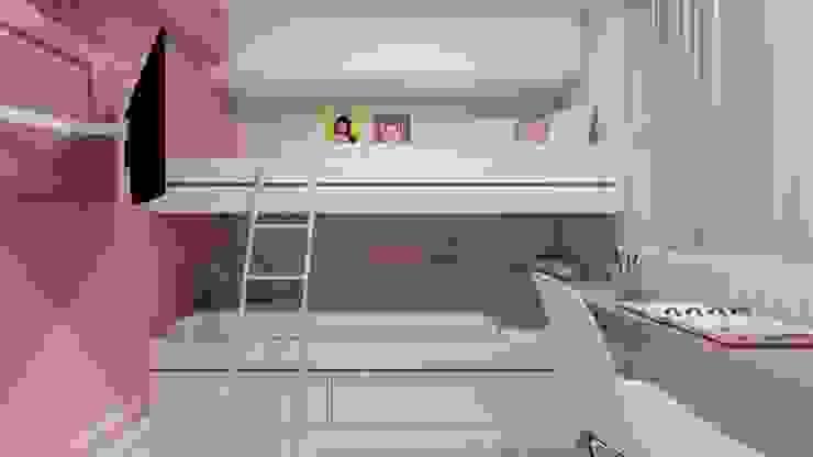 Dormitório Infantil Juliana Lobo Arquitetura & Interiores Quarto infantil moderno de madeira e plástico Rosa