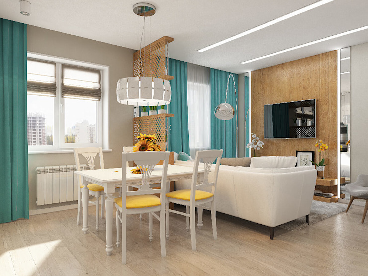 Living room by Гузалия Шамсутдинова | KUB STUDIO,