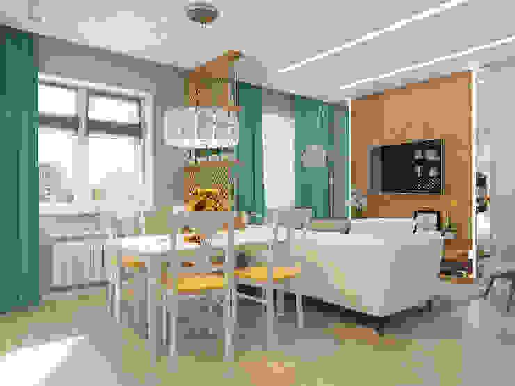 Living room by Гузалия Шамсутдинова | KUB STUDIO, Mediterranean