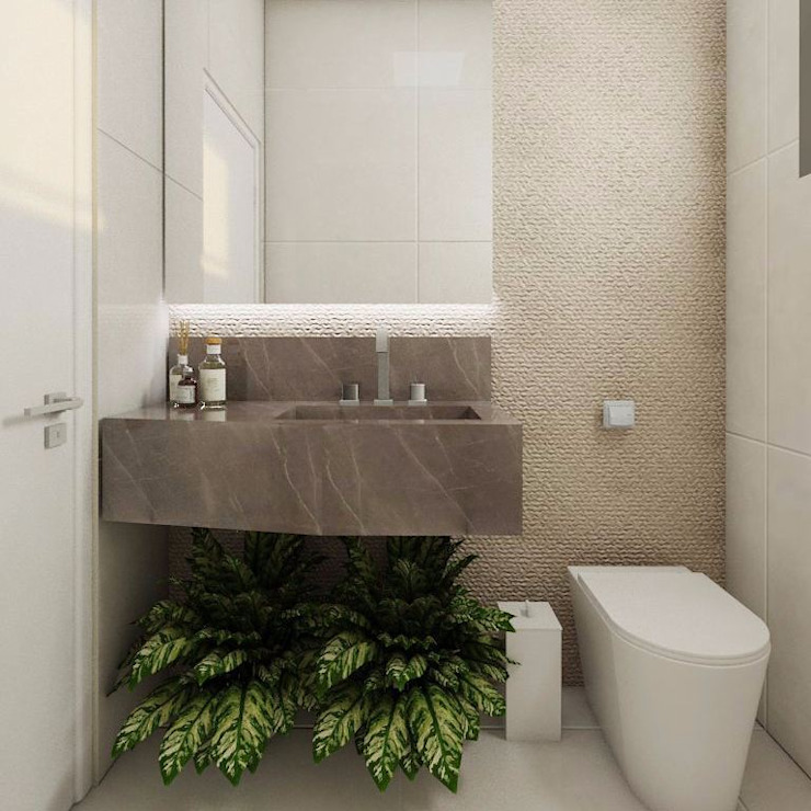 Phòng tắm phong cách kinh điển bởi Bruna Schumacher - Arquitetura & Interiores Kinh điển