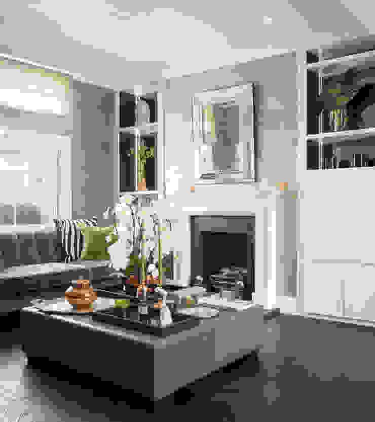South Kensington Residential Refurbishment Salas de estilo moderno de SWM Interiors & Sourcing Ltd Moderno Madera Acabado en madera
