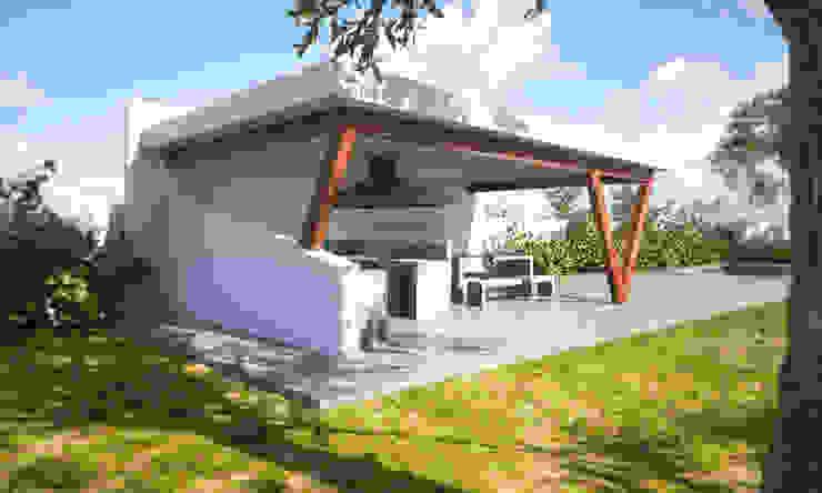 Hiên, sân thượng phong cách hiện đại bởi IMAGINA REALIDAD LTDA. Hiện đại