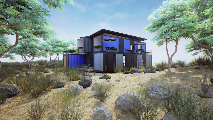 Passive house by EnTRE+, Modern