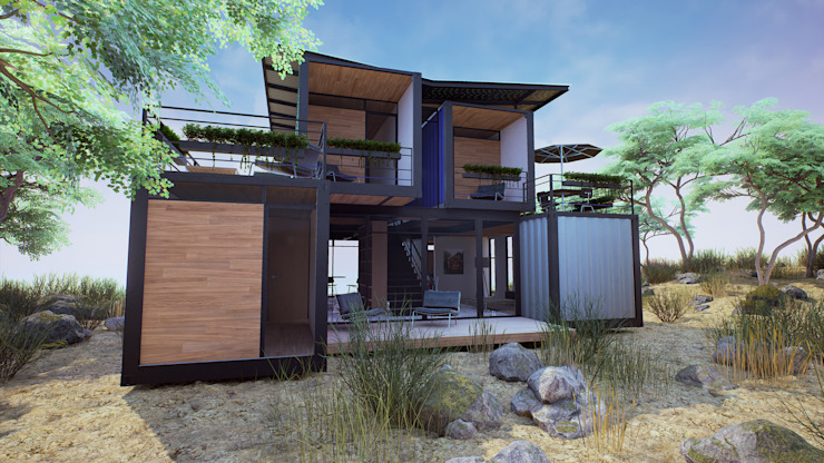 Houses by EnTRE+, Modern