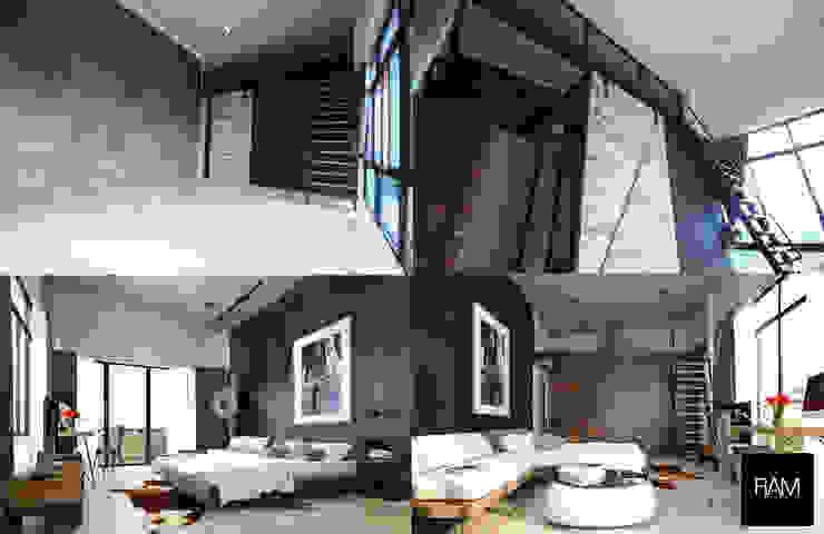 ห้องนอนสไตล์ Loft โดย ramรับออกแบบตกแต่งภายใน