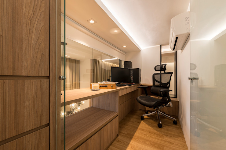 Design & Build: Condominium @ Eunos (Modern Scandinavian) Modern study/office by erstudio Pte Ltd Modern