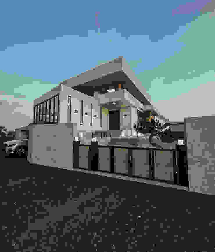 노후된 주택 리모델링 디자인-외부 파사드 모던스타일 주택 by 디자인 이업 모던 솔리드 우드 멀티 컬러