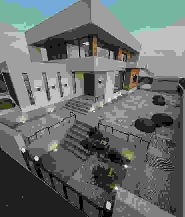 노후된 주택 리모델링 디자인-정원디자인 모던스타일 정원 by 디자인 이업 모던 돌