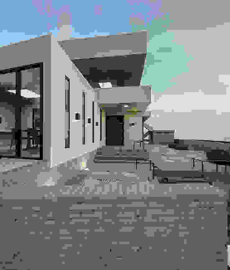 노후된 주택 리모델링 디자인-외부 파사드 모던스타일 주택 by 디자인 이업 모던 돌