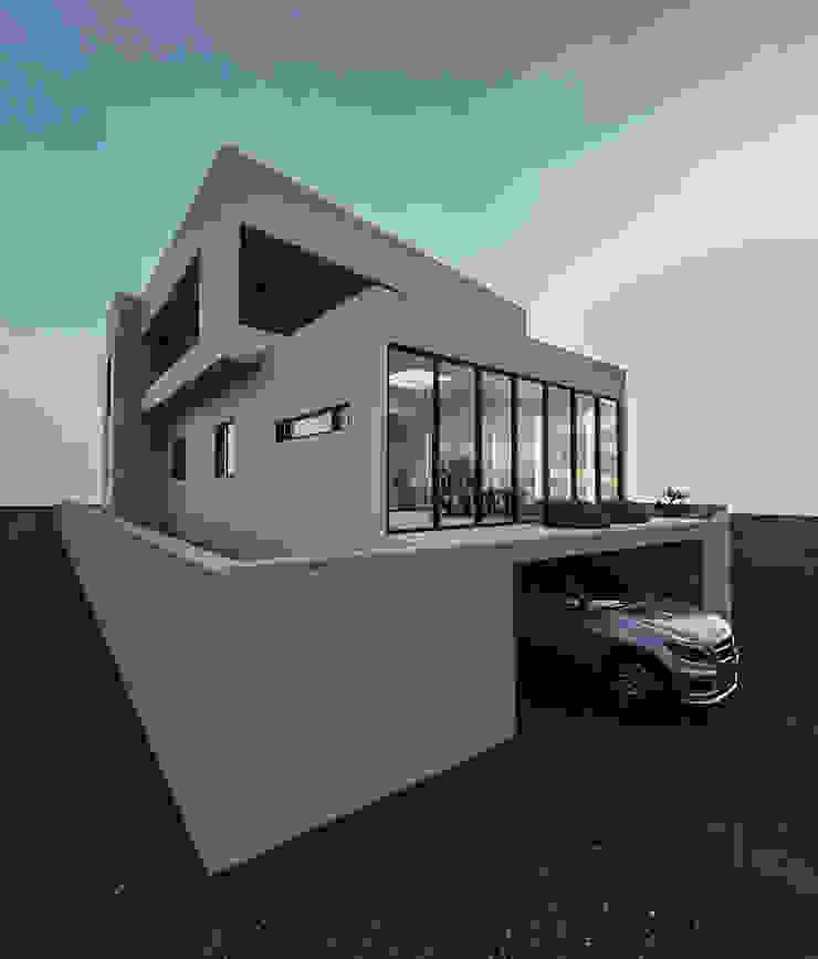 노후된 주택 리모델링 디자인-외부 파사드 by 디자인 이업 모던 돌