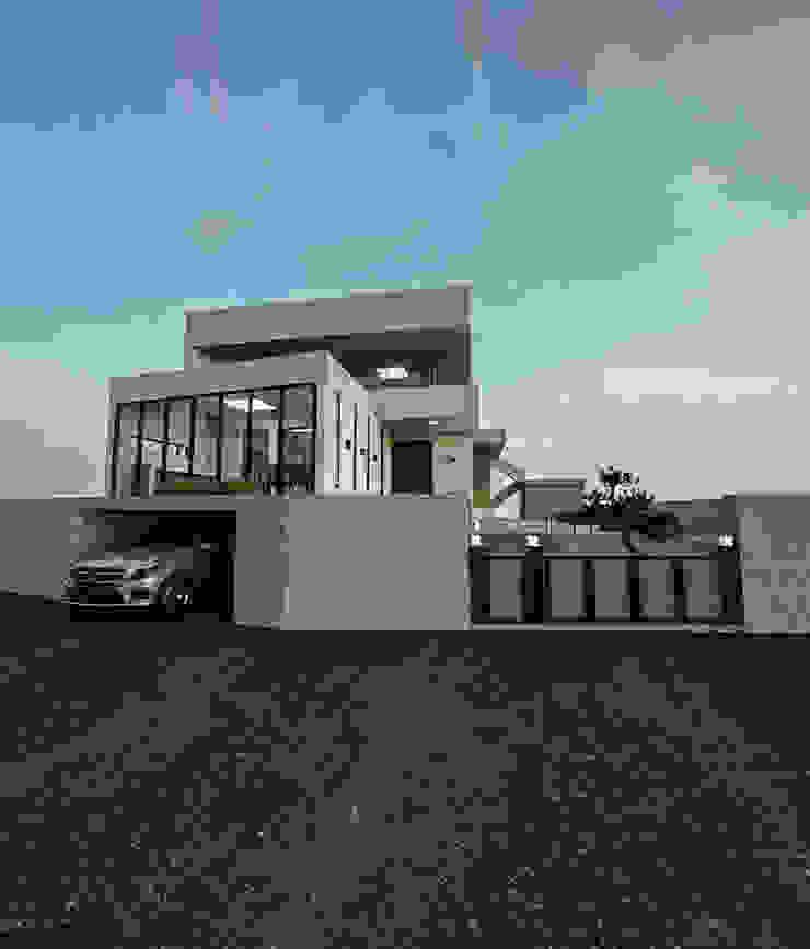 노후된 주택 리모델링 디자인-외부 파사드 by 디자인 이업 모던 벽돌