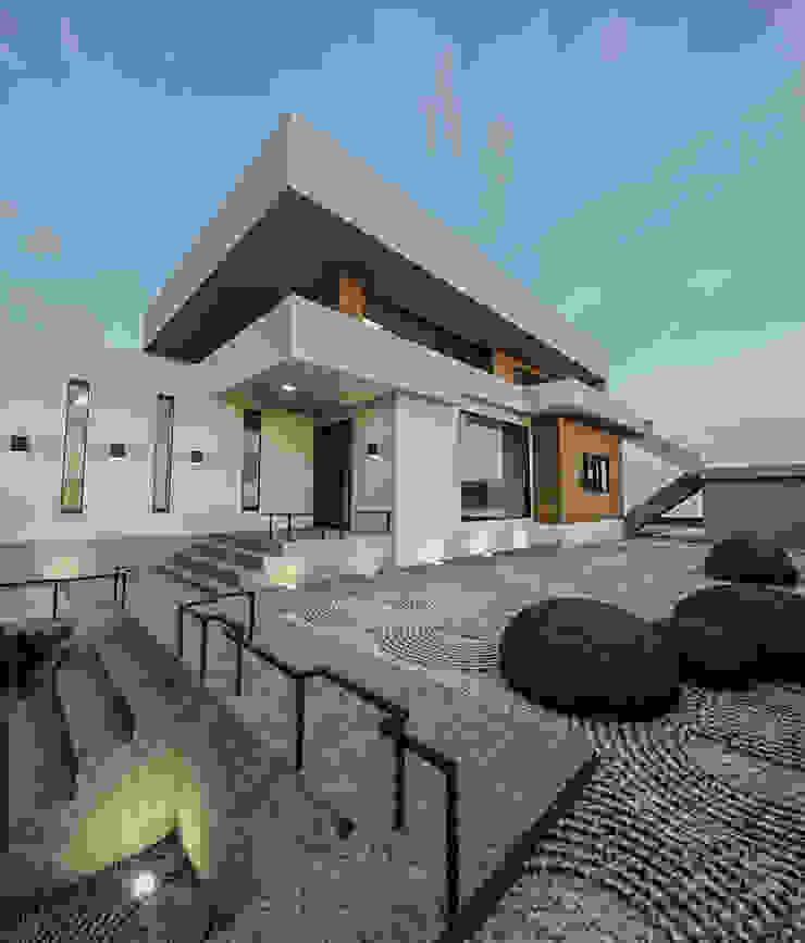 노후된 주택 리모델링 디자인-정원디자인 by 디자인 이업 모던 돌