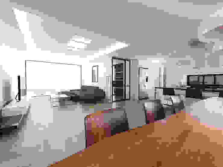 노후된 주택 리모델링 디자인-거실 인테리어디자인 모던스타일 거실 by 디자인 이업 모던 솔리드 우드 멀티 컬러
