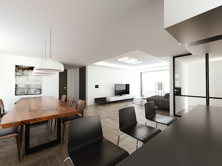 노후된 주택 리모델링 디자인-거실 인테리어디자인 모던스타일 거실 by 디자인 이업 모던 세라믹