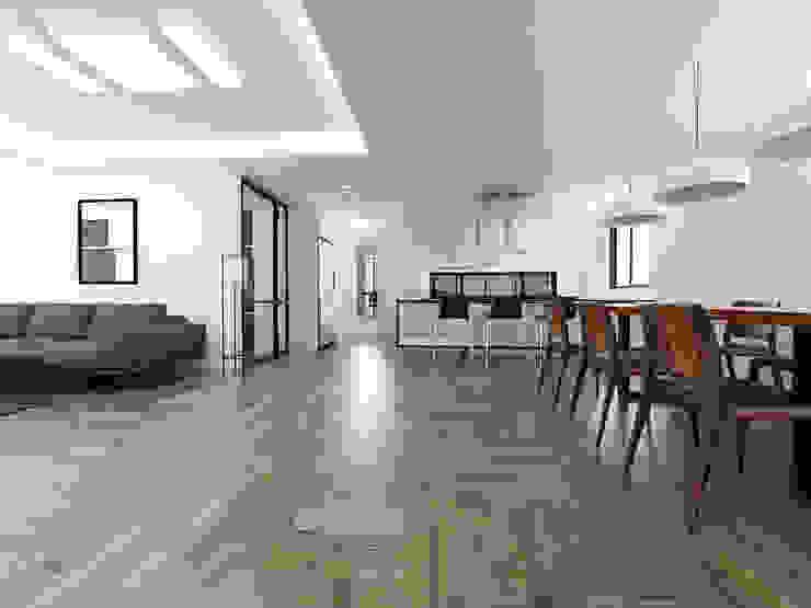 노후된 주택 리모델링 디자인-주방인테리어디자인 by 디자인 이업 모던 우드 + 플라스틱