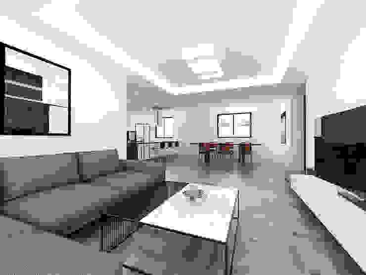노후된 주택 리모델링 디자인-거실,주방 인테리어디자인 by 디자인 이업 모던 우드 우드 그레인